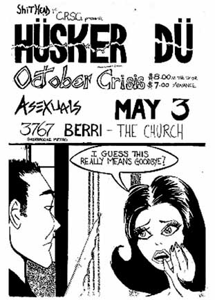 HUSKER DU poster 1985
